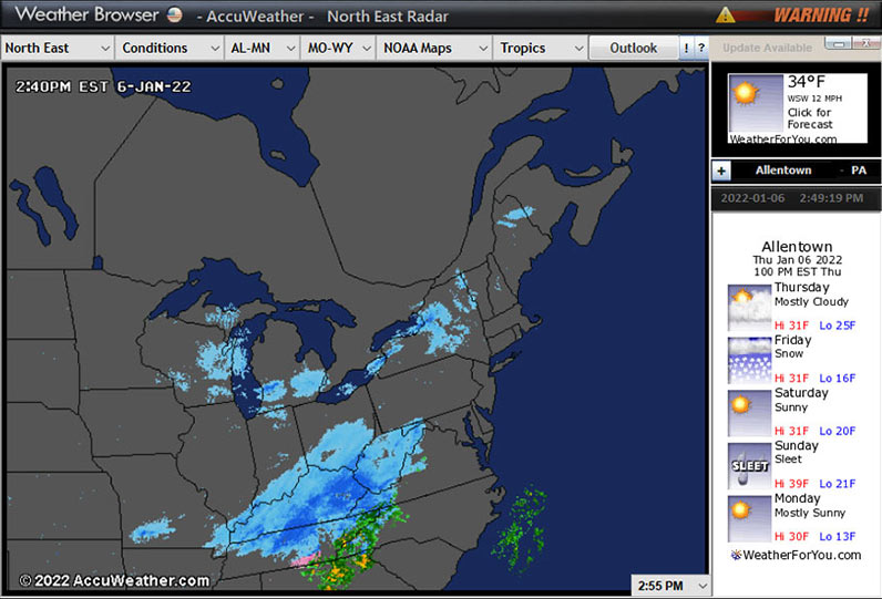 USA Radars Weather Browser