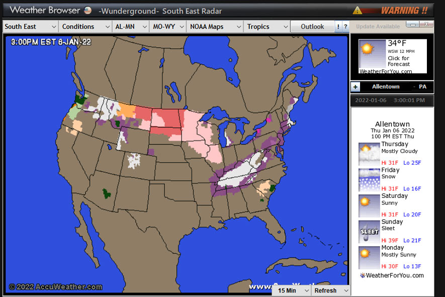 USA Radars Weather Browser Screenshot